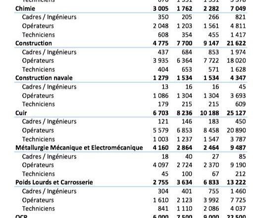 حاجيات تكوين الموارد البشرية المبرمجة في أفق 2020 في إطار المنضومات الصناعية في #المغرب