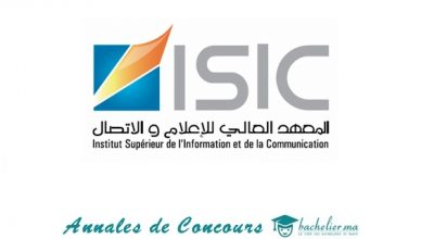Annales Concours ISIC 2018