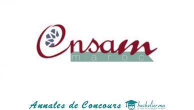 Annales de Concours ENSAM 2018