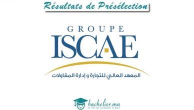 Résultats de Présélection ISCAE 2018