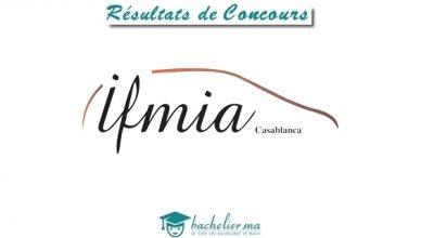 Résultats Concours IFMIA Casa 2018