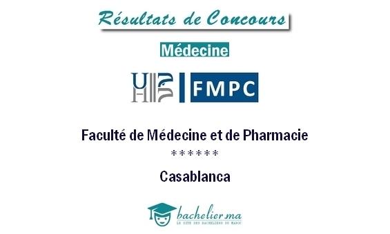 Résultats Concours Médecine Casa 2018