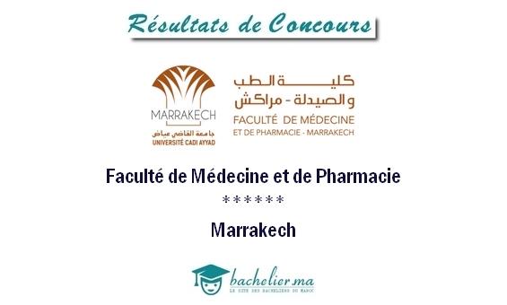 Résultats Concours Médecine Marrakech 2018