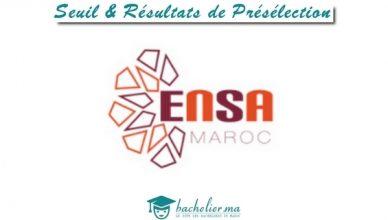 Seuil et Résultats de Présélection Concours ENSA 2018